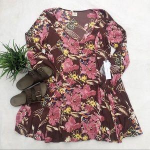 O'Neill Boho Floral Long Sleeve Dress